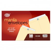 "FIS A4 Manila Envelope - Peel & Seal, 12 x 10"", (Pack of 50)"