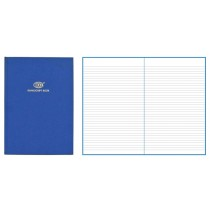 FIS Ruled Manuscript/Register Book with side spiral binding, 2QR, A5, 96 sheets, Blue