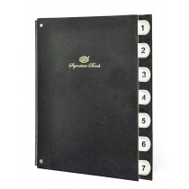 FIS Signature Book, Vinyl Material Cover, 7 Sheets (1-7), Black Color, 240 x 340mm