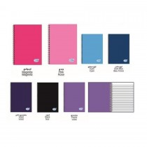 FIS Spiral Hard Cover Notebook, Single Ruled, A5 size, 100 Sheets - Assorted Colors 7pcs/pack (FSNBSA5ASST)
