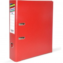 FIS Box File A4 8cm Broad Red