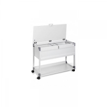 Durable Suspension File Trolley 100 Top, Grey