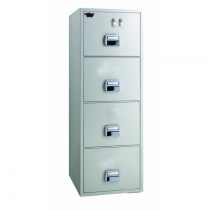 Eagle SF-750-4TKX Fire Resistant Filing Cabinet, 4 Drawers, 2 Key Lock