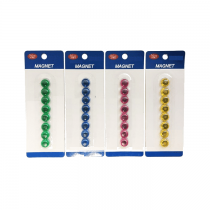Deluxe Magnetic Button 2 cm 8/pack Assorted Colors