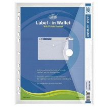 Label in Wallet A4 Size, White FSPG1310CL