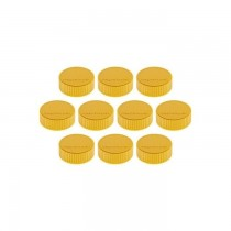 Magnetoplan Discofix Magnum Magnet, 34mm Yellow, 10pcs/pack
