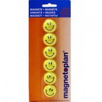 Magnetoplan Magnetic Smileys, 30mm, 6/pack