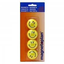Magnetoplan Magnetic Smileys, 40mm, 4/pack