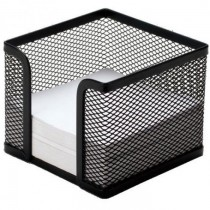 FIS FSMMB8701A Metal Mesh Memo Holder, Black