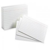 Index Cards 3 x 5 160gsm 100pack White