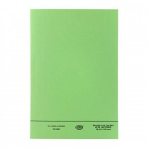 FIS Square Cut Folder FS With Fastener, Green