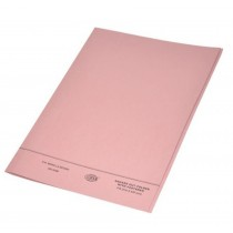 FIS Square Cut Folder FS With Fastener, Pink