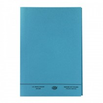 FIS Square Cut Folder FS With Fastener, Blue