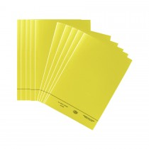 FIS Square Cut Folder FS w/o Fastener 10/Pack Yellow