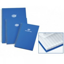 FIS Ruled Manuscript/Register Book with side spiral binding, 2QR, A4, 96 sheets, Blue