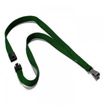 Durable Textile Lanyard 15 mm Dark Green 812732