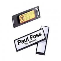 Durable 8132 CLIP CARD Magnetic Name Badge with frame 67 x 17 mm 5pack Black