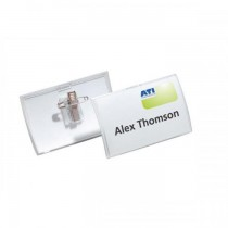 Durable 821419 CLICK FOLD Name Badge with combi clip 90 x 54 mm 25pack