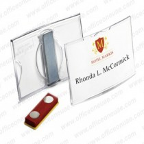 Durable 812319 CONVEX ACRYLIC Magnetic Name Badge 75 x 40 mm 25pack