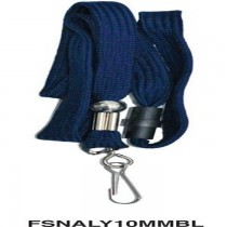 FIS Name Badge Lanyrad With Metal Hook FSNALY10MMBL