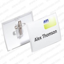 Durable 821419 CLICK FOLD Name Badge with combi clip 90 x 54 mm