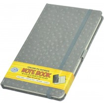 FIS Executive Notebook W/ Elastic Band Ostrich Italian Pu Cover5mm 13 x 21cm Grey  FSNBEX5MM1321GY