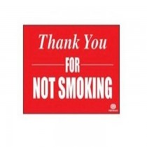 FIS Sticker Thank You FOR NOT SMOKING 12x8cm