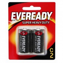 Eveready 1235 Super Heavy Duty C Battery, (Pack of 2)