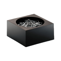Durable Paper Clip Dispenser CUBO, Black