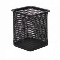 FIS FSPHB8804 Pen Holder - Metal Mesh  Square Net  Black
