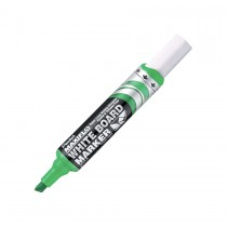 Pentel MWL6 Maxiflo Chisel Tip White Board Marker  Green (Pack of 12)