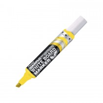 Pentel MWL6 Maxiflo Chisel Tip White Board Marker  Yellow (Pack of 12)