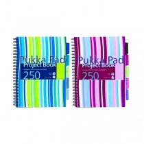 Pukka Pad Jotta Wirebound A5, line ruled, 80gsm, 200sheets/pad, Assorted Colors