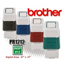 Brother PR1212R Pre-Inked Rubber Stamps Red 6/Box