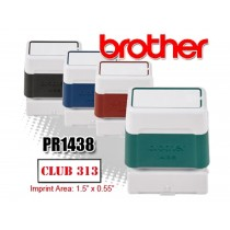 Brother PR1438B Pre-Inked Rubber Stamps Black 6/Box