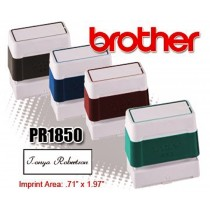 Brother PR1850E Pre-Inked Rubber Stamps Blue 6/Box