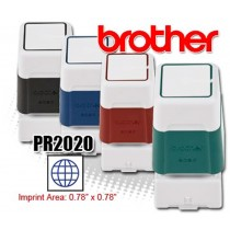 Brother PR2020E Pre-Inked Rubber Stamps Blue 6/Box