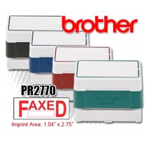 Brother PR2770G Pre-Inked Rubber Stamps Green 6/Box