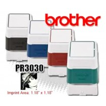 Brother PR3030R Pre-Inked Rubber Stamps Red 6/Box