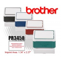 Brother PR3458R Pre-Inked Rubber Stamps Red 6/Box
