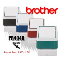 Brother PR4040R Pre-Inked Rubber Stamps Red 6/Box
