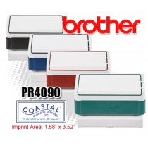 Brother PR4090B Pre-Inked Rubber Stamps Black 6/Box