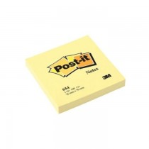 3M Post-It Notes Canary Yellow 654 3inX3in