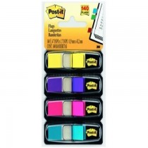 3M Postit Flags Small Size 4 Bright Colors 6834AB 047inx17in