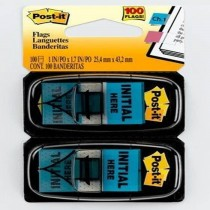 3M PostIt Flags Initial here 680IH2 50 FlagsDispenser 2Pack