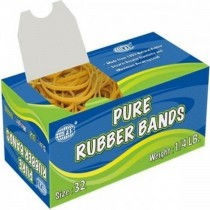 FIS FSRB32 Pure Rubber Bands  32 Size 14 LB Box of 10