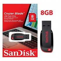 Sandisk Cruzer Blade Flash Drive, 8GB