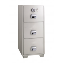 Eagle SF-680-3EKX Fire Resistant Filing Cabinet, 3 Drawers, Digital & Key Lock