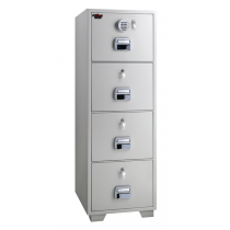 Eagle SF-680-4EKK Fire Resistant Filing Cabinet, 4 Drawer, Digital & 4 Key Lock