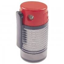 Dahle 53466-21376 Canister Pencil Sharpener, Red/Grey